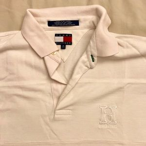 Tommy Hilfiger White Branded Polo